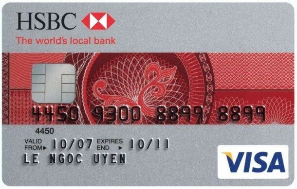Đây là một thẻ tín dụng do ngân hàng HSBC phát hành