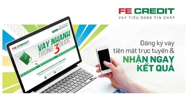 Vay tiền mặt từ FECredit có thể thực hiện Online