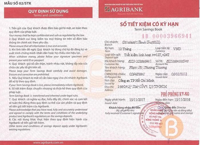 Có thể làm thẻ tín dụng thông qua sổ tiết kiệm