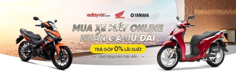 Ưu đãi mua xe máy trả góp 0% tại Adayroi