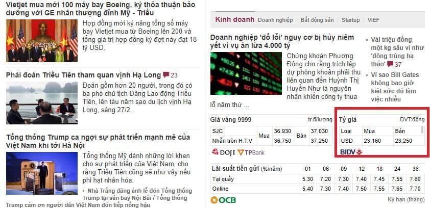 Tỷ giá kíp Lào - đồng Việt Nam - Lịch sử tỷ giá - Tỷ giá ...