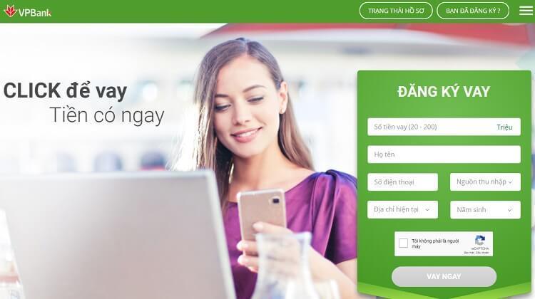 Bạn có thể đăng ký vay tín chấp VPBank online dễ dàng