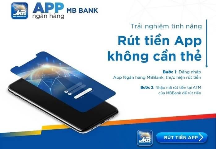 Sử dụng App MBBank bạn có thể rút tiền ở cây ATM mà không cần thẻ
