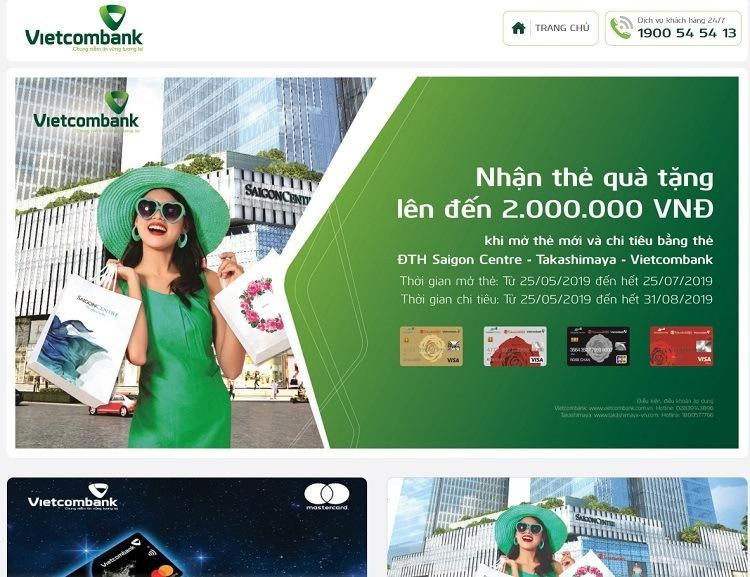Trang đăng ký làm thẻ Vietcombank online