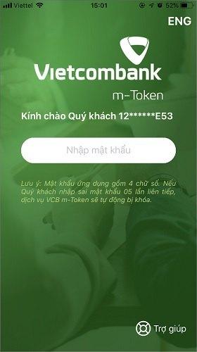 Ứng dụng m-Token của Vietcombank