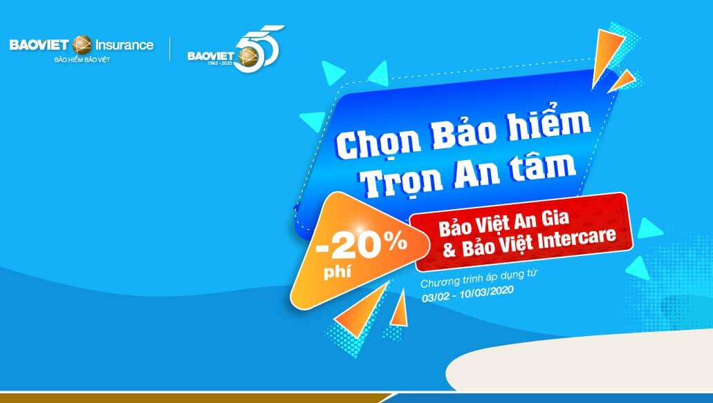 Bảo hiểm Bảo Việt khuyến mãi 2020
