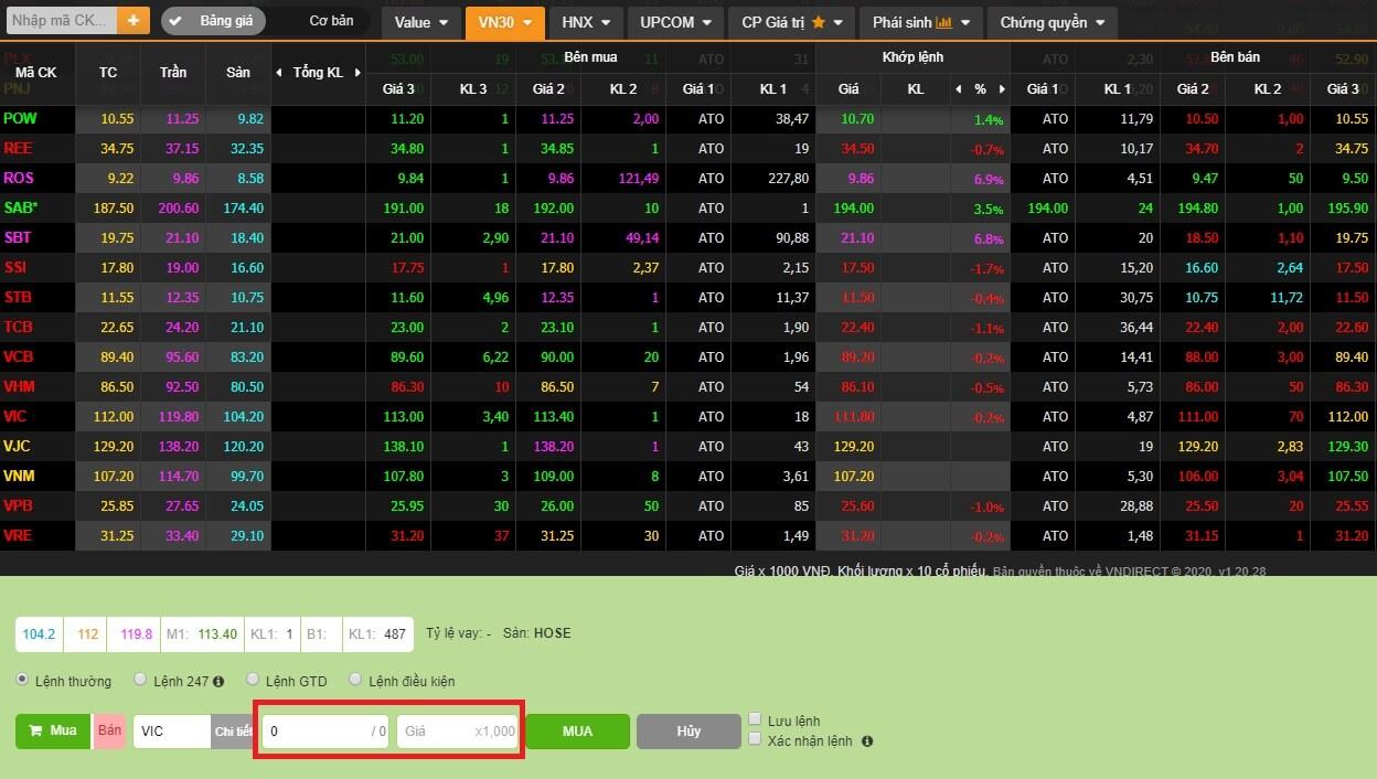 Cách mua cổ phiếu Vingroup