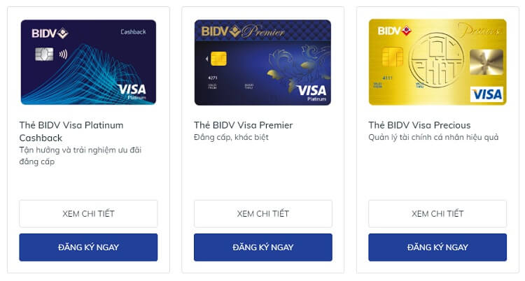 Điều kiện mở thẻ tín dụng BIDV
