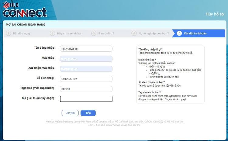 Đăng ký làm thẻ ATM online ngân hàng Hong Leong Bank