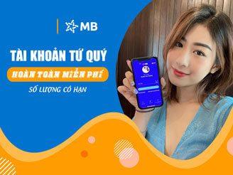 Mở thẻ MBBank Miễn phí dịch vụ