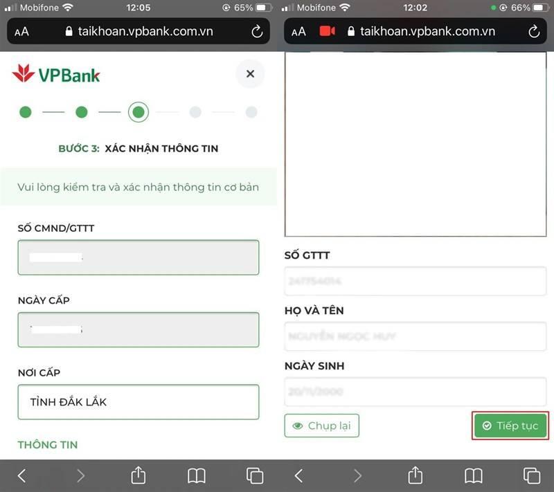 Hoàn thiện thủ tục mở tài khoản thanh toán VPBank