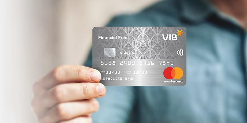 Thẻ tín dụng free miễn phí thường niên Financial Free của VIB