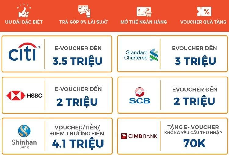 Khuyến mãi mở thẻ tín dụng qua Shopee