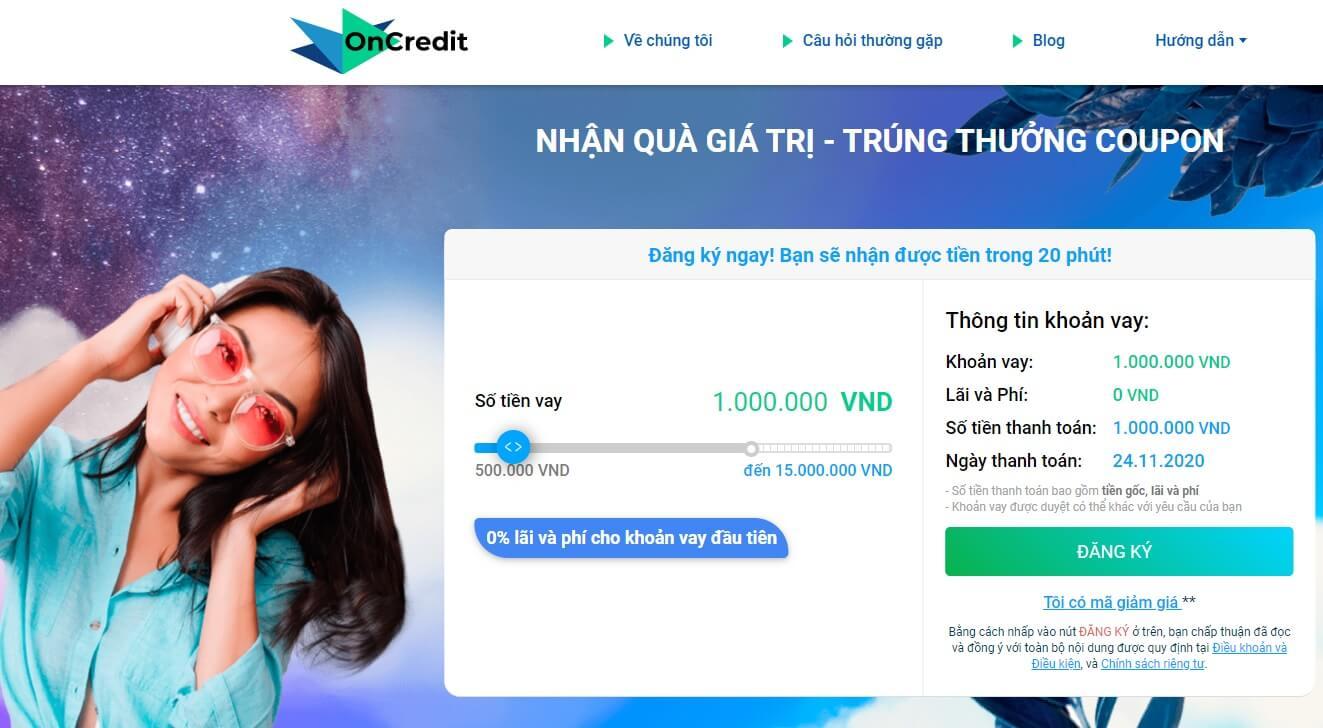 OnCredit app vay tiền online mới thủ tục đơn giản