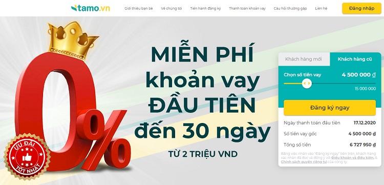 App vay tiền online mới Tamo