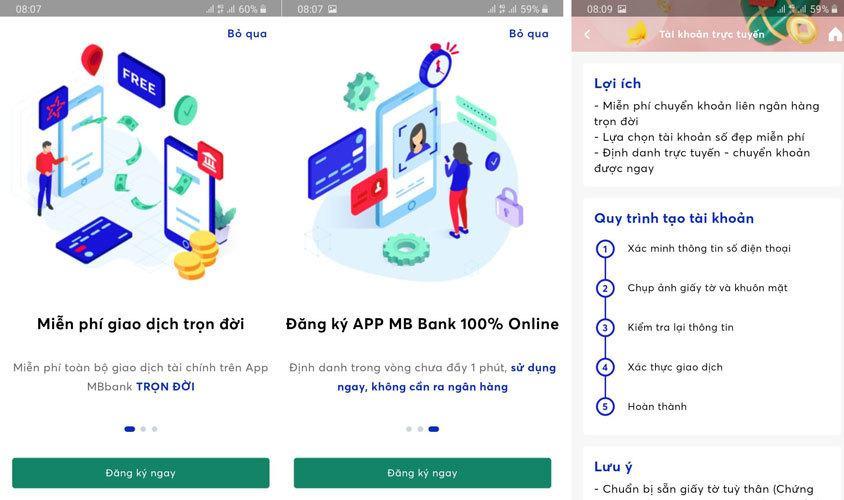 Hướng dẫn mở tài khoản ngân hàng MBBank online