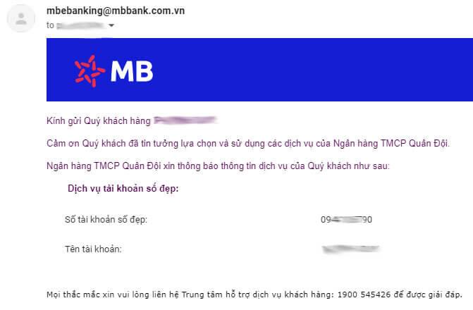 Mở tài khoản MBBank giống số điện thoại miễn phí